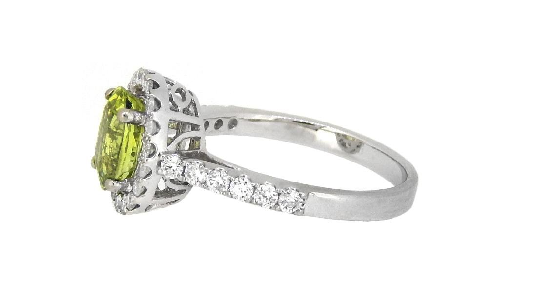 18KT White Gold 1.80ct GIA Cert Chrysoberyl and Diamond - 2