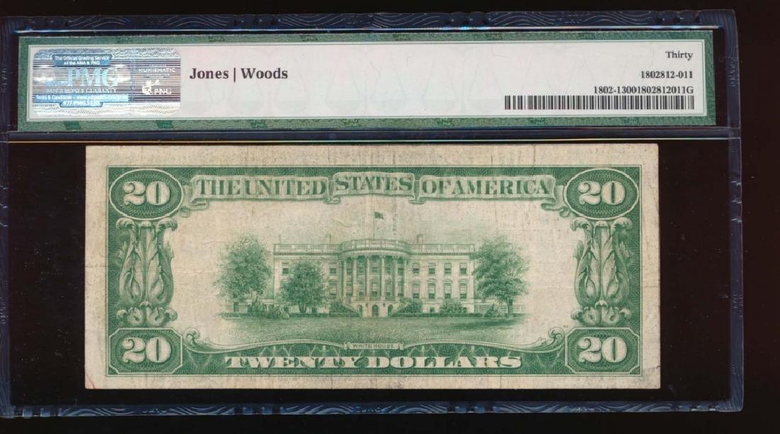 1929 $20 Columbus Ohio Nation Bank Note PMG 30 - 2