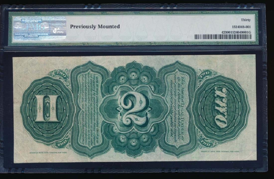 1869 $2 Legal Tender Note PMG 30 - 2