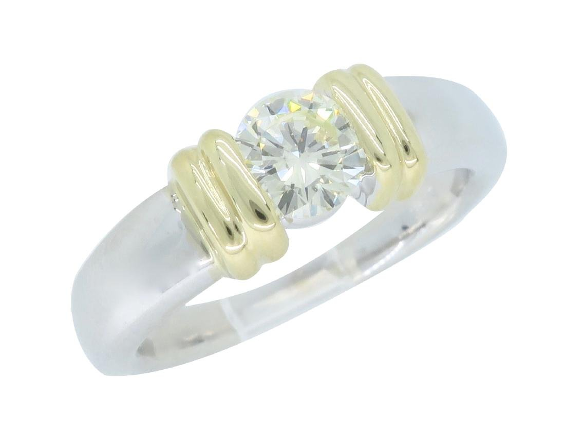 14KT Two Tone Gold 0.50ct Diamond Ring - 2