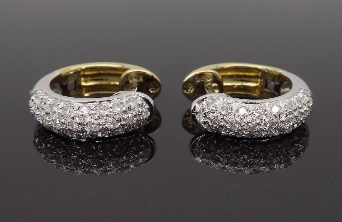 14KT Two Tone Gold 0.25ctw Diamond Earrings