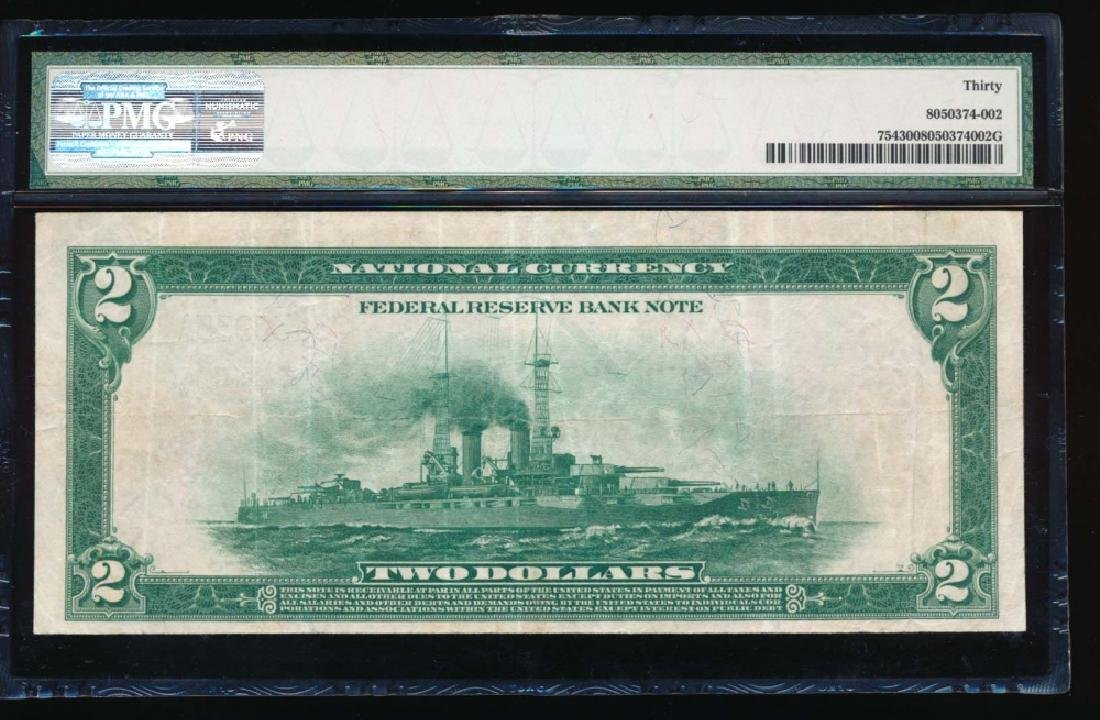 1918 $2 Philadelphia Federal Reserve Bank Note PMG 30 - 2