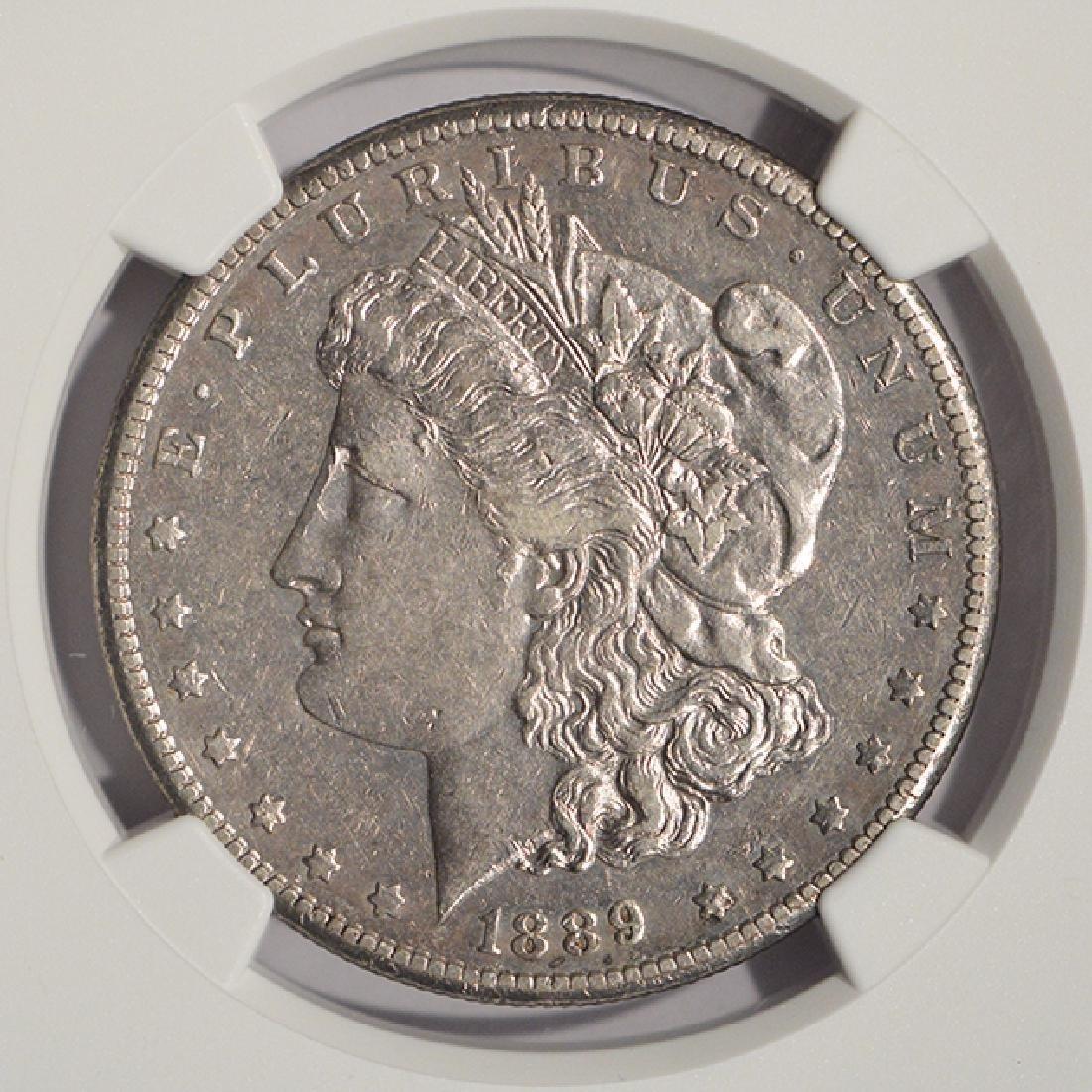 1889-CC $1 Morgan Silver Dollar Coin NGC XF45 - 3