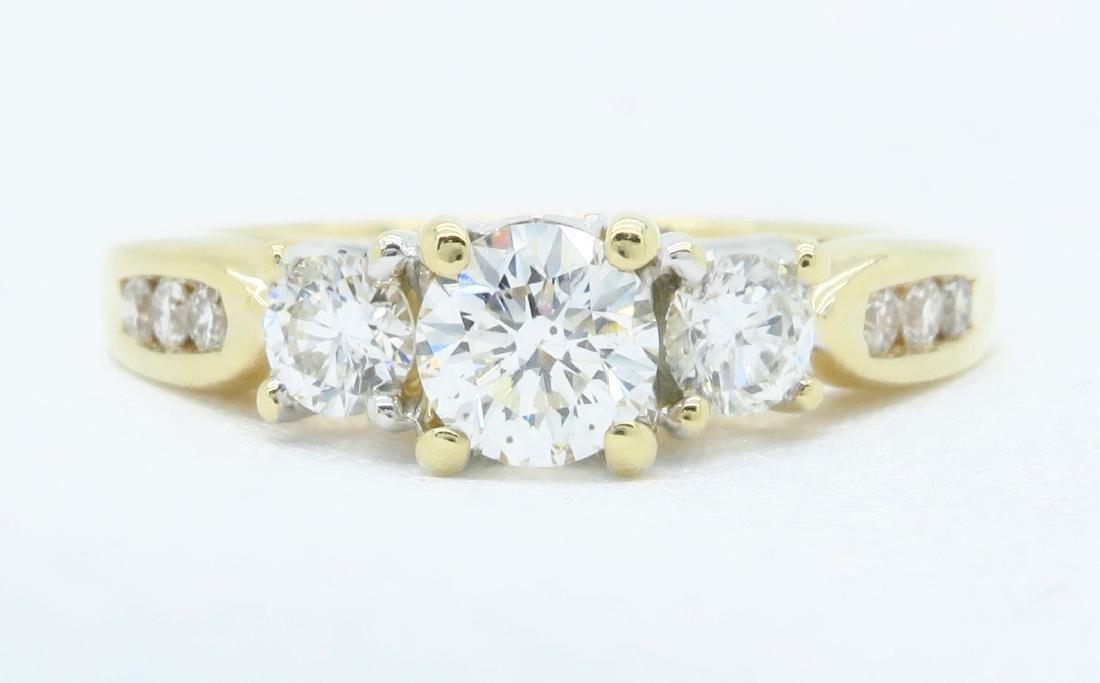 14KT Yellow Gold 0.75ctw Diamond Ring