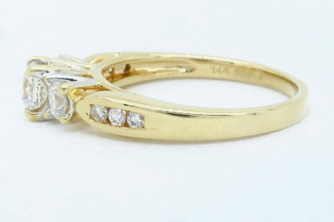 14KT Yellow Gold 0.75ctw Diamond Ring - 3