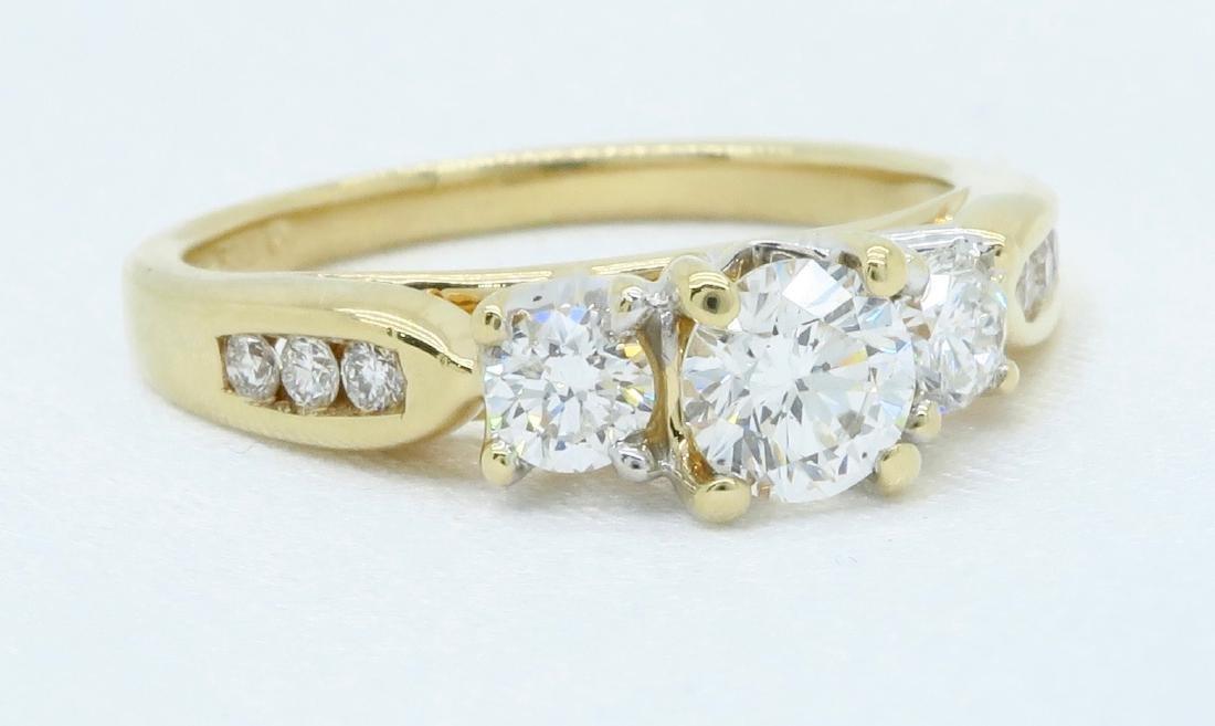 14KT Yellow Gold 0.75ctw Diamond Ring - 6