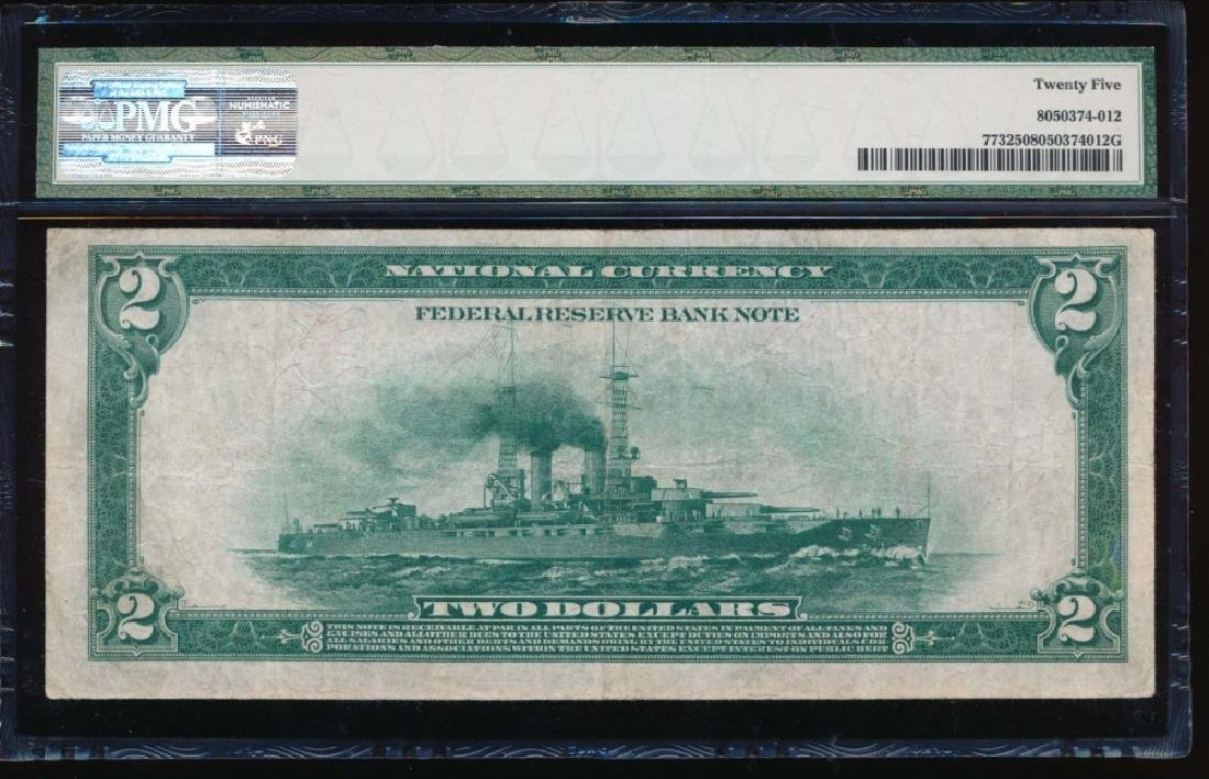 1918 $2 Minneapolis Federal Reserve Bank Note PMG 25 - 2