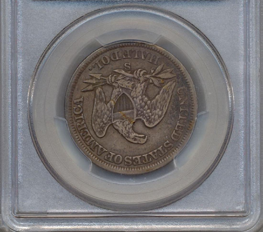 1859-S Liberty Seated Half Dollar Coin PCGS VF35 - 2