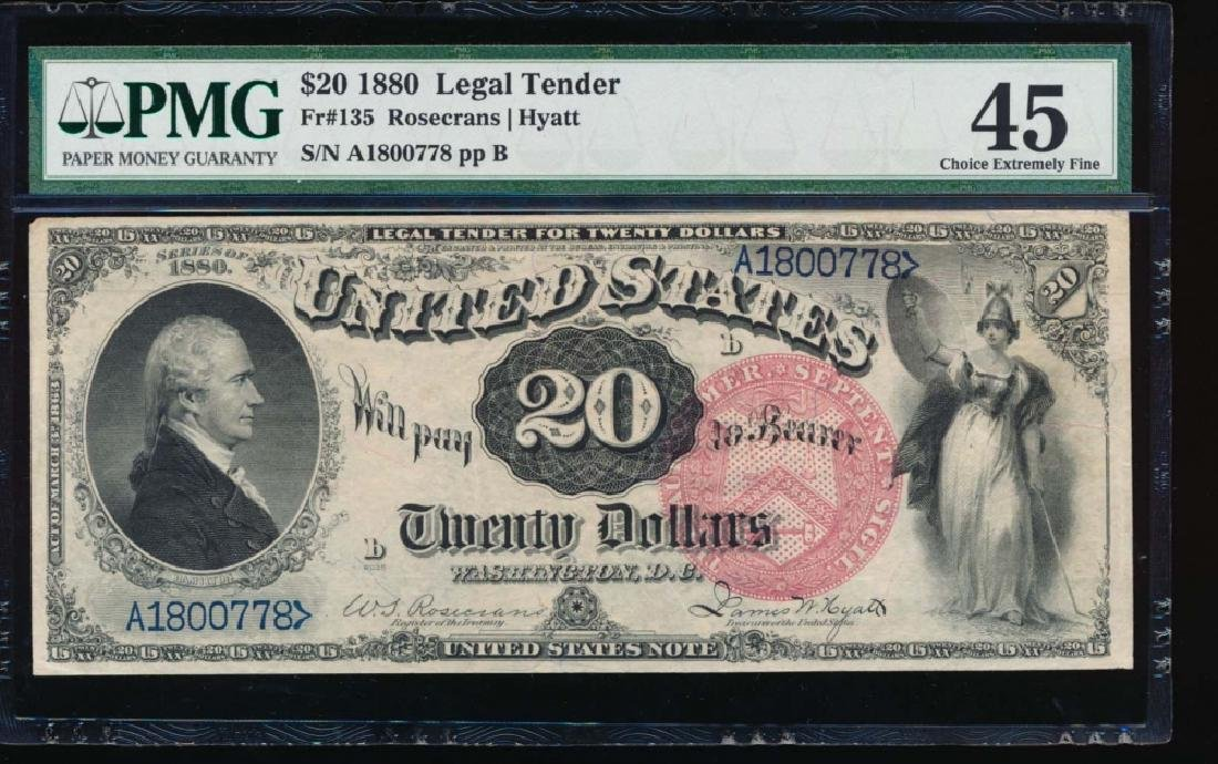1880 $20 Legal Tender Note PMG 45 - 2