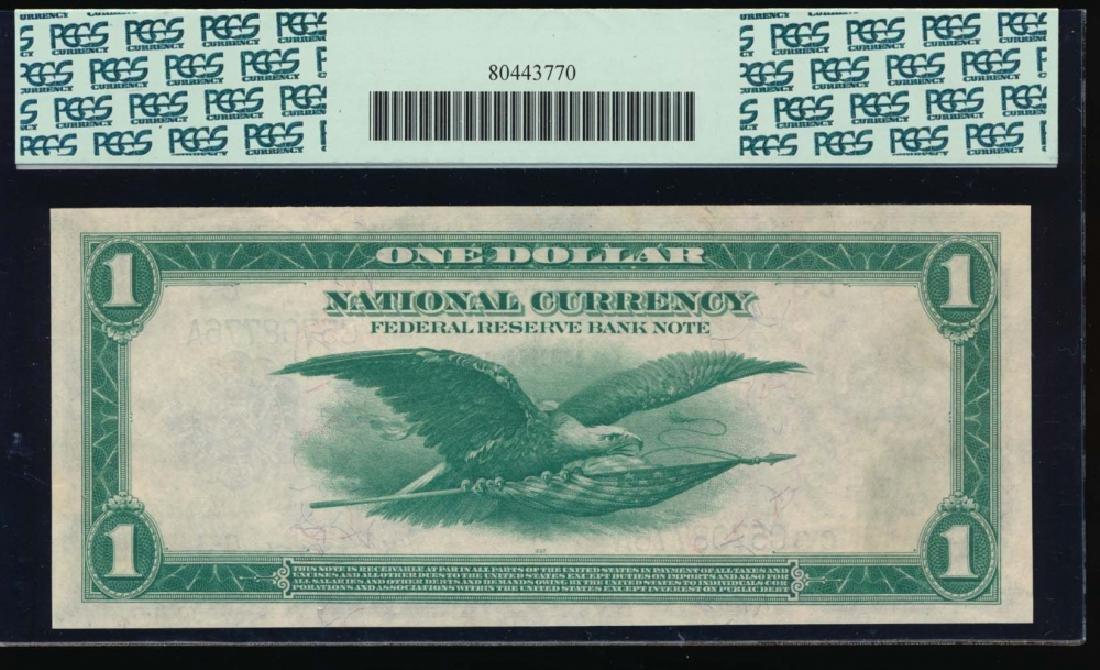 1918 $1 Philadelphia Federal Reserve Bank Note PCGS - 2