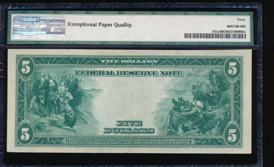 1914 $5 New York Federal Reserve Note PMG 40EPQ - 2