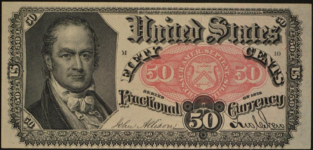 50 Cent 1874-76 Fifth Issue Fractional Note