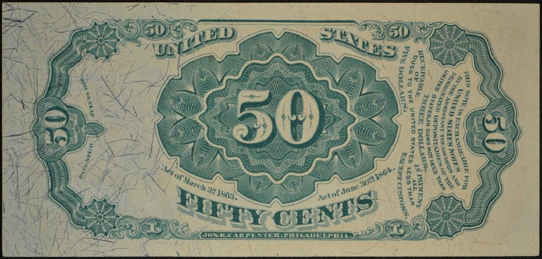 50 Cent 1874-76 Fifth Issue Fractional Note - 2