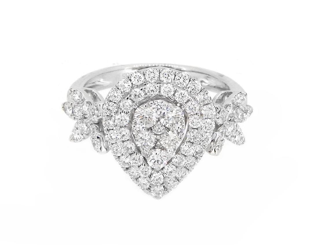 18KT White Gold 1.41ctw Diamond Ring