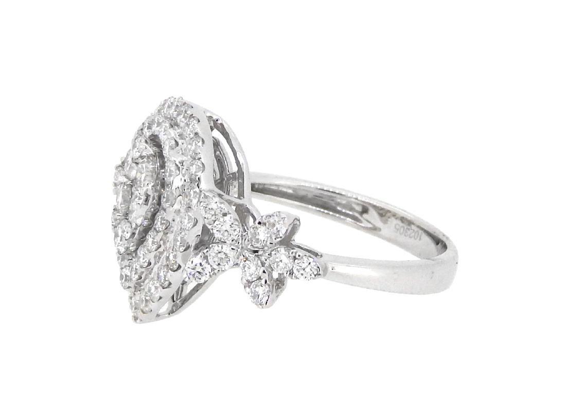 18KT White Gold 1.41ctw Diamond Ring - 2