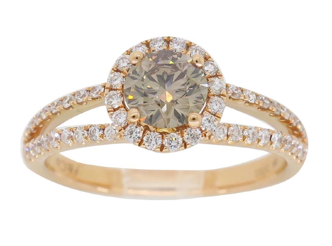 18KT Rose Gold 0.80ctw Diamond Ring