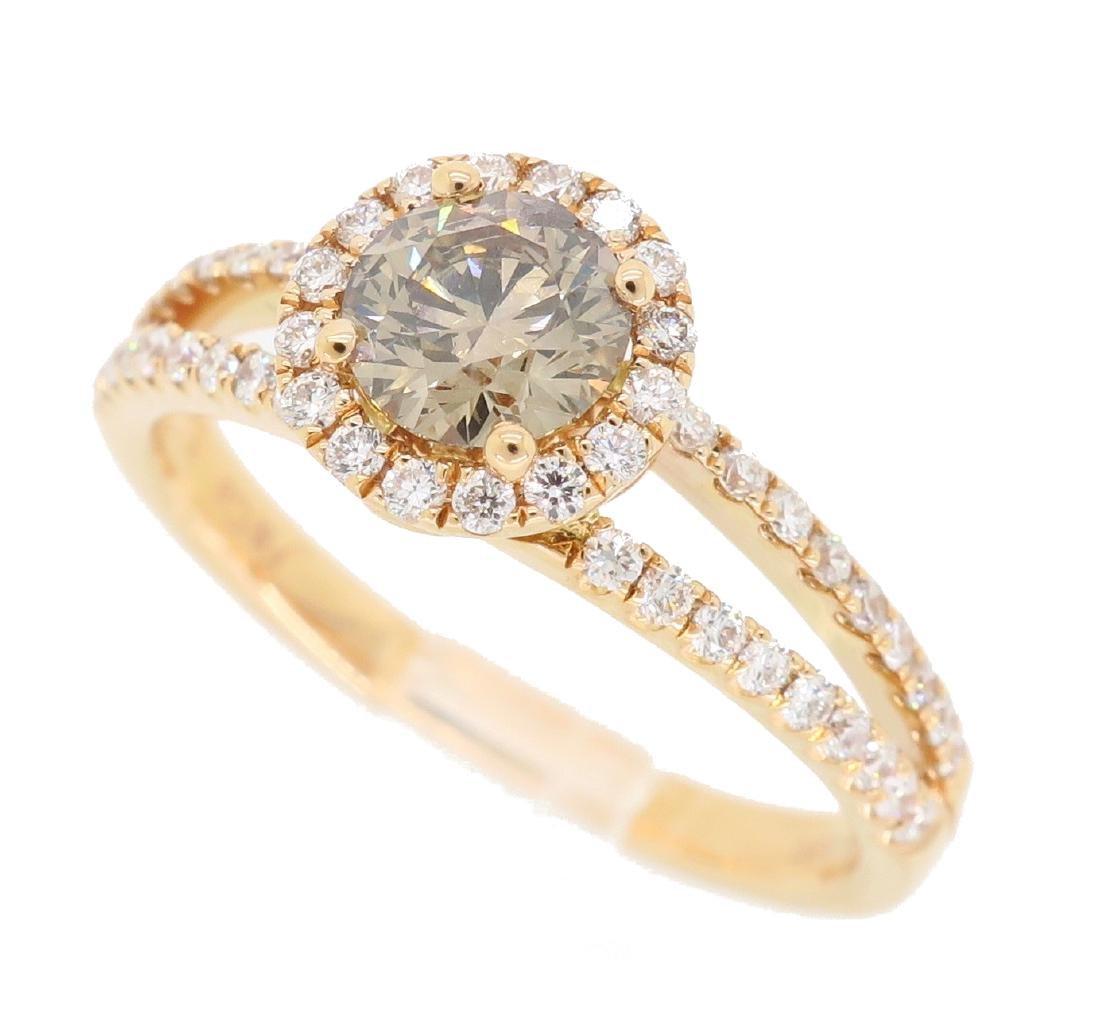 18KT Rose Gold 0.80ctw Diamond Ring - 2