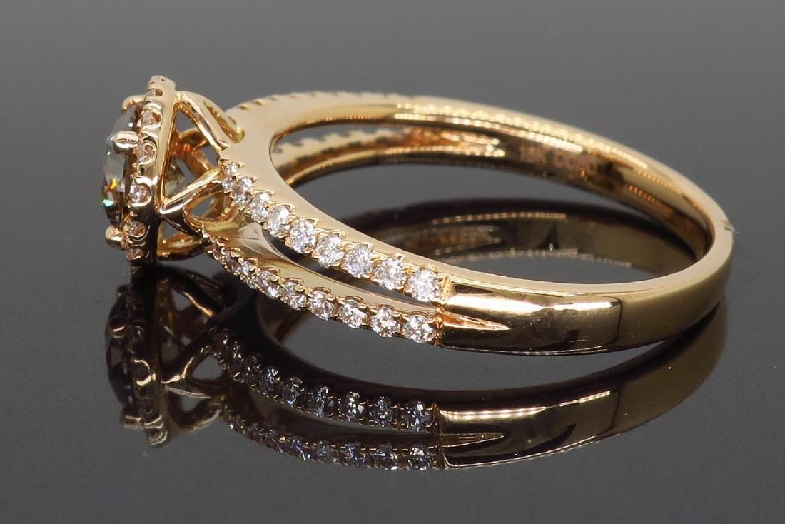 18KT Rose Gold 0.80ctw Diamond Ring - 5