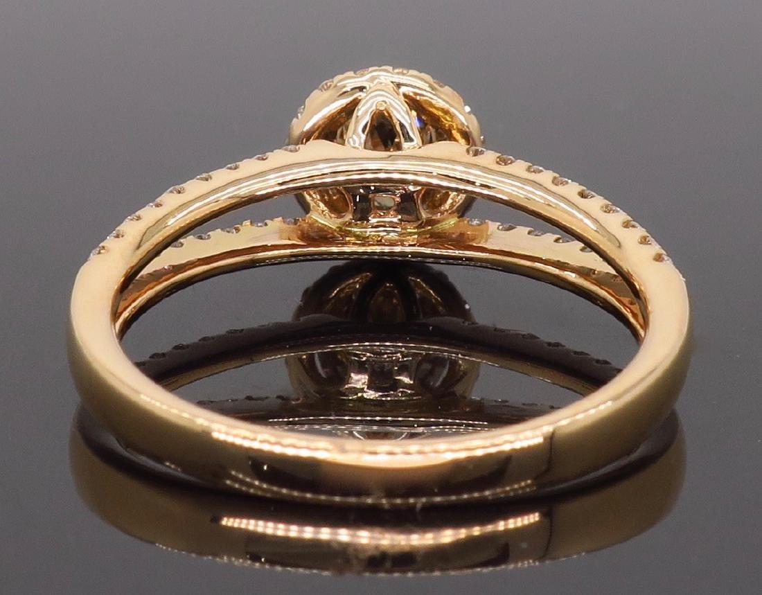 18KT Rose Gold 0.80ctw Diamond Ring - 6