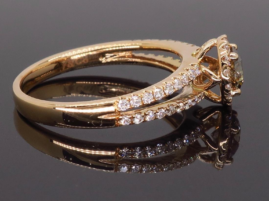 18KT Rose Gold 0.80ctw Diamond Ring - 7