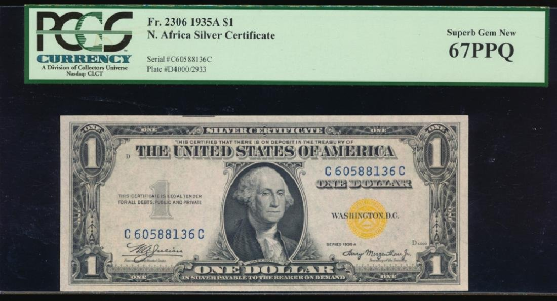 1935A $1 North Africa WWII Emergency Silver Certificate