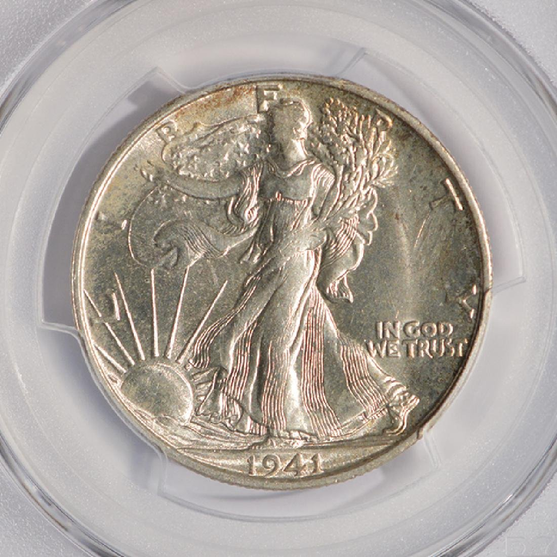 1941-S Walking Liberty Half Dollar Coin PCGS MS64 - 3