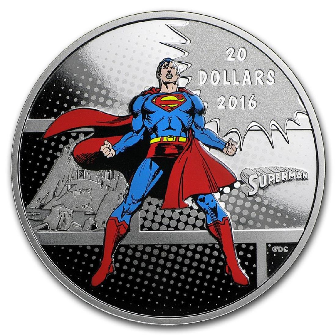 2016 $20 Canada Man of Steel 1 oz Silver Coin