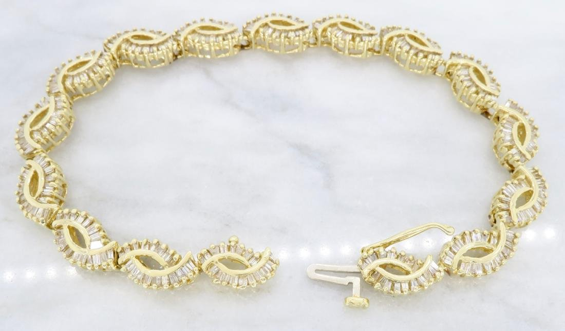 14KT Yellow Gold 2.08ctw Diamond Bracelet - 4