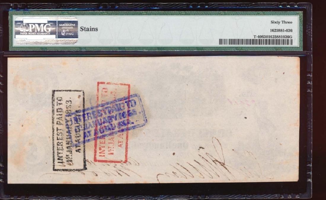 1862-63 $100 Confederate States of America Note PMG 63 - 2