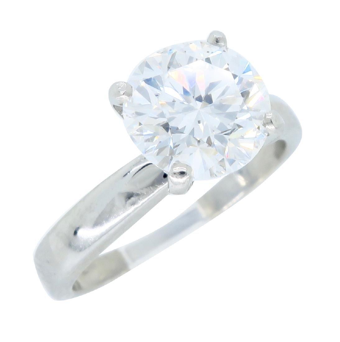 Platinum 1.61ct Diamond Ring - 2