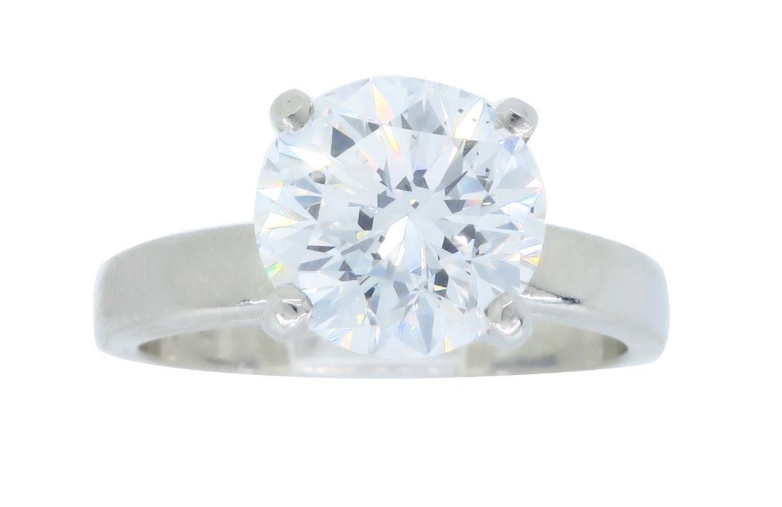 Platinum 1.61ct Diamond Ring - 3
