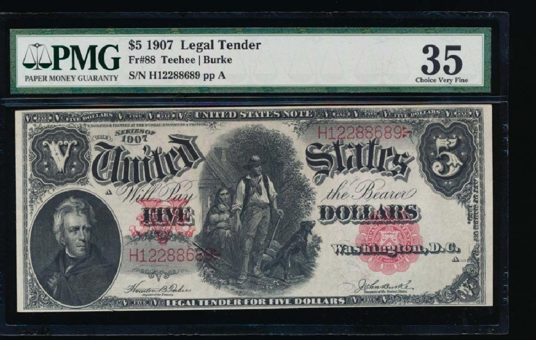 1907 $5 Legal Tender Note PMG 35
