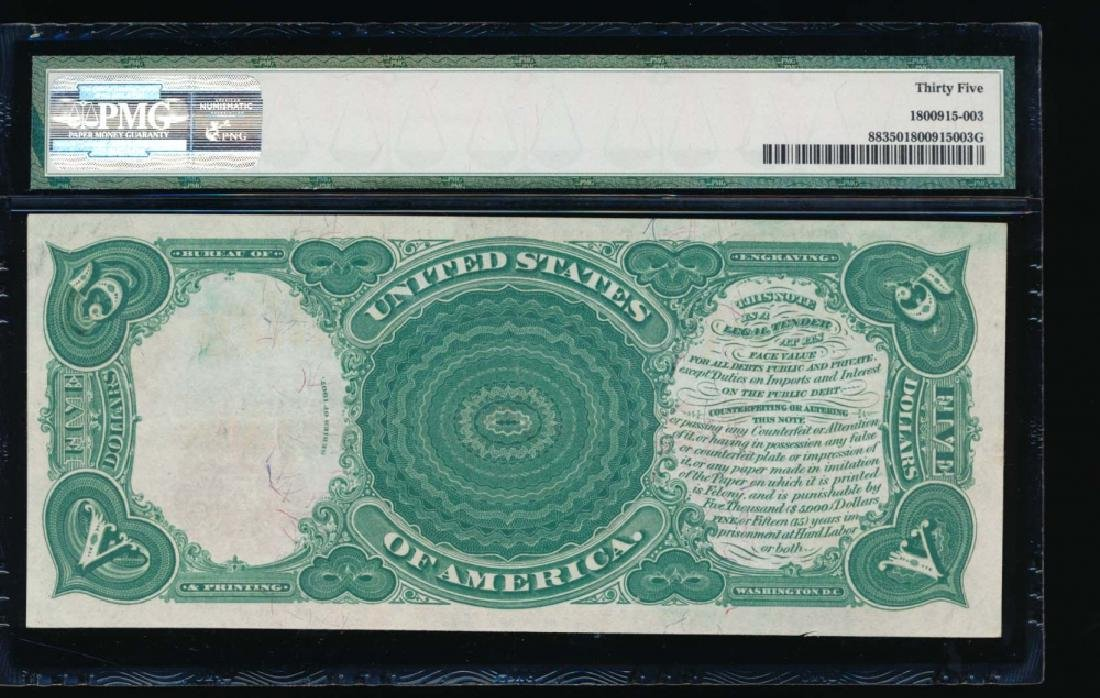 1907 $5 Legal Tender Note PMG 35 - 2