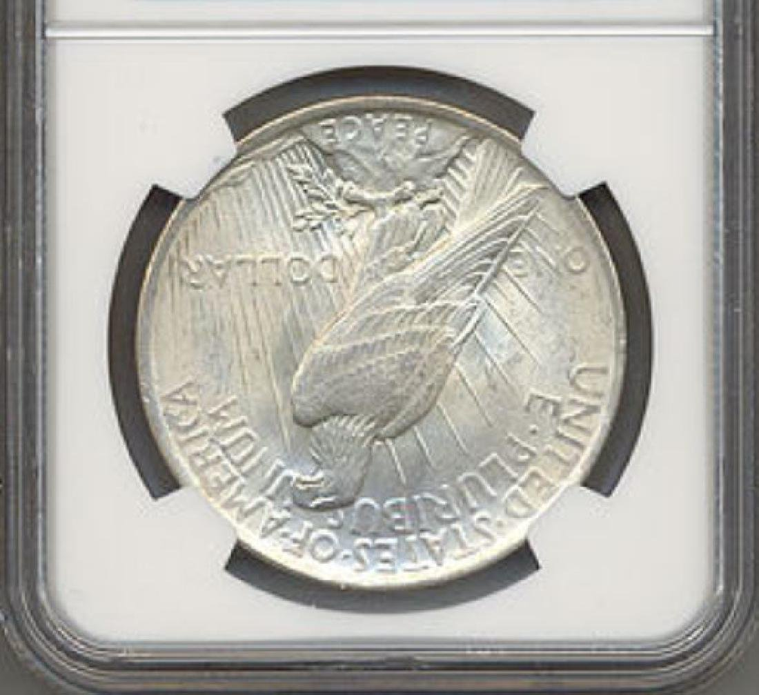 1923 $1 Peace Silver Dollar VAM 1F Chin Bar NGC MS65 - 2