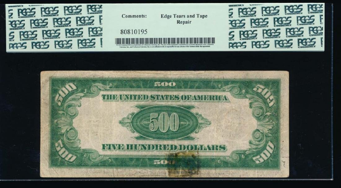 1934 $500 New York Federal Reserve Note PCGS 25 - 2