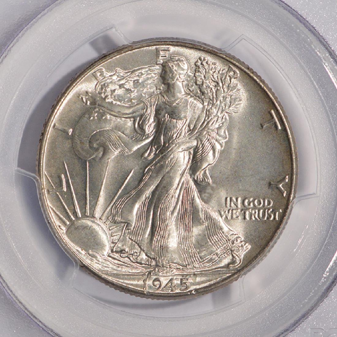 1945 Walking Liberty Half Dollar Coin PCGS MS66 - 3