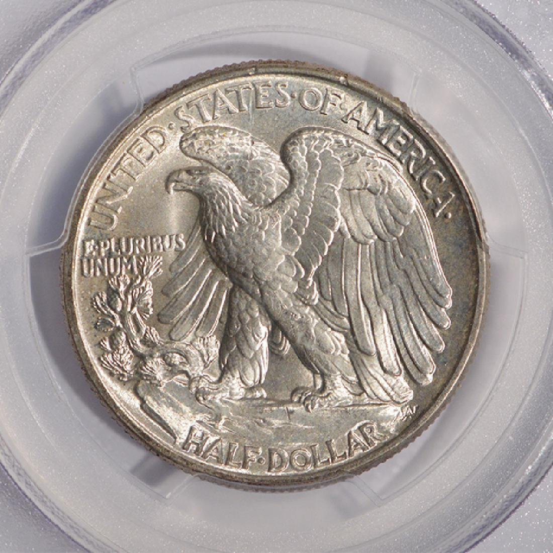 1945 Walking Liberty Half Dollar Coin PCGS MS66 - 4
