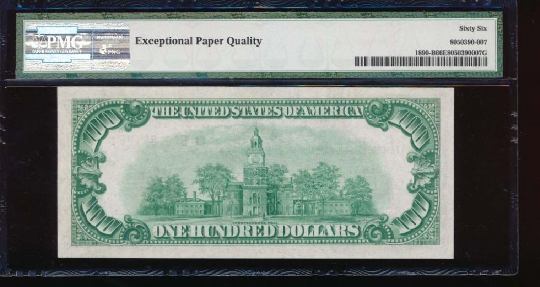 1929 $100 New York Federal Reserve Bank Note PMG 66EPQ - 2