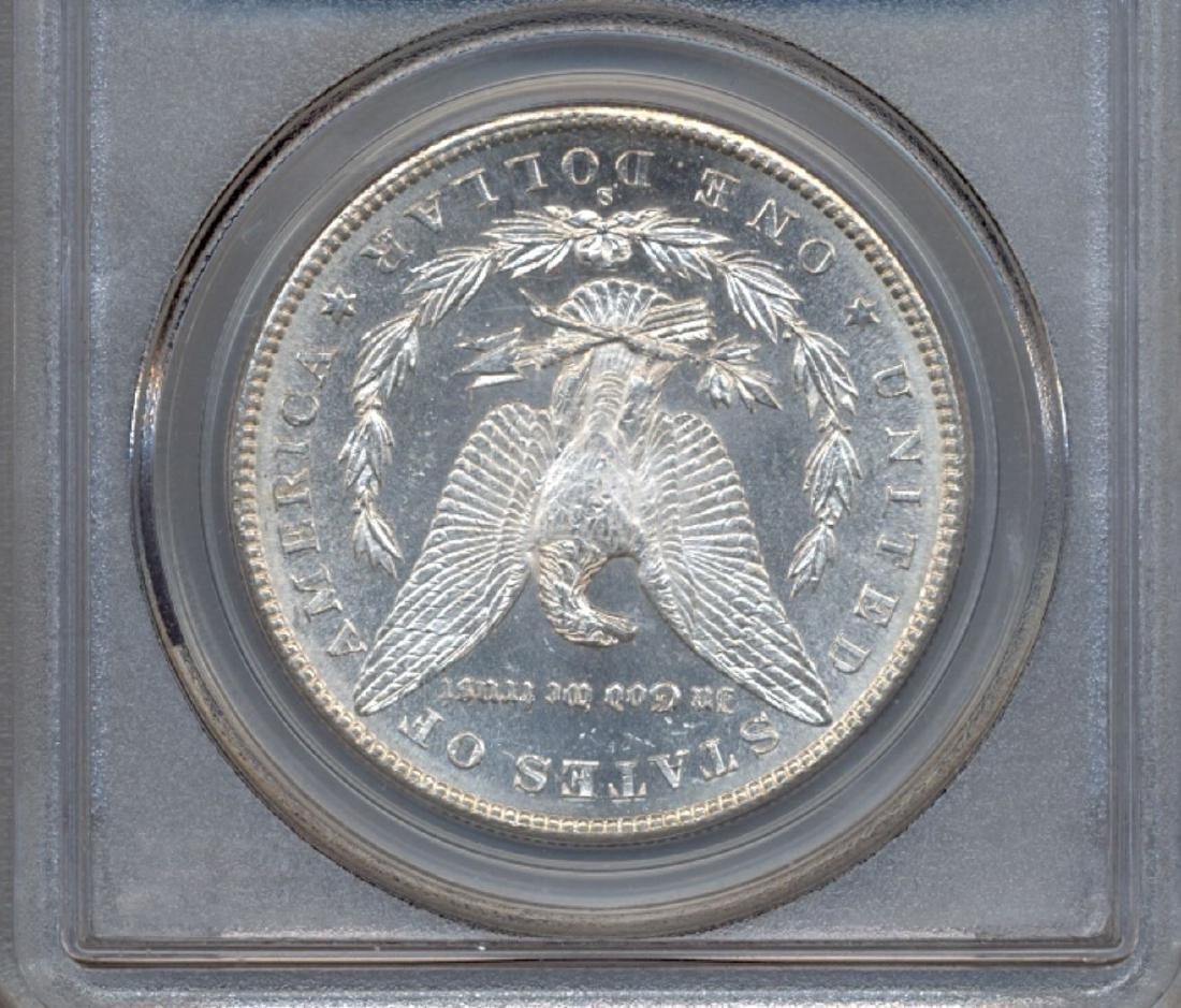 1890-S $1 Morgan Silver Dollar Coin PCGS MS63DMPL - 2