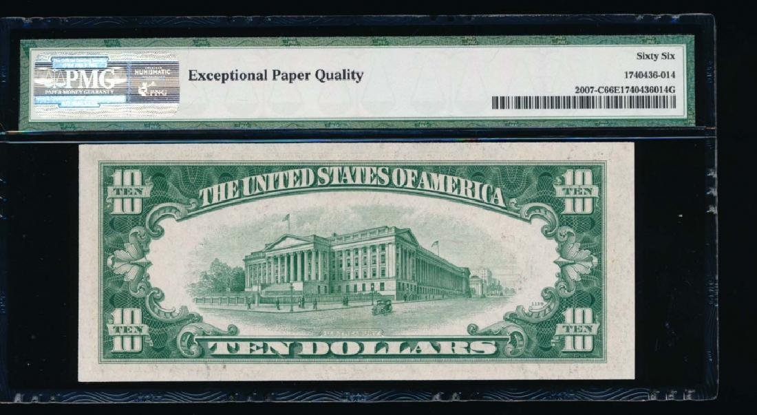 1934 $10 Philadelphia Federal Reserve Note PMG 66EPQ - 2