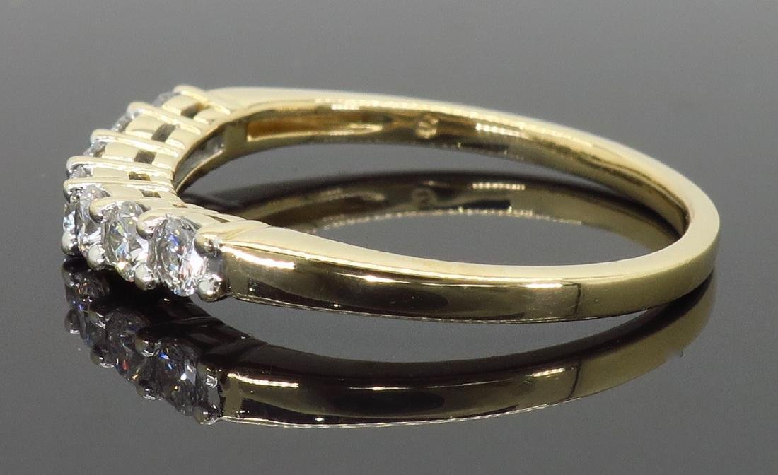 14KT Yellow Gold 0.50ctw Diamond Ring - 5