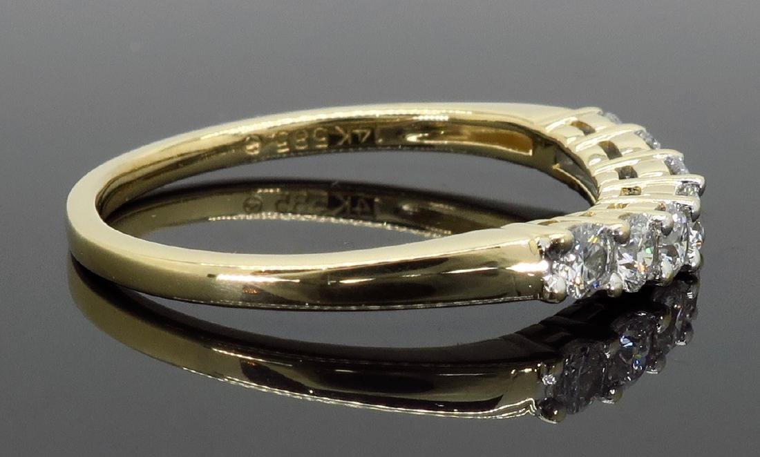 14KT Yellow Gold 0.50ctw Diamond Ring - 6