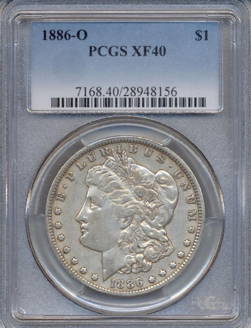 1886-O $1 Morgan Silver Dollar Coin PCGS XF40