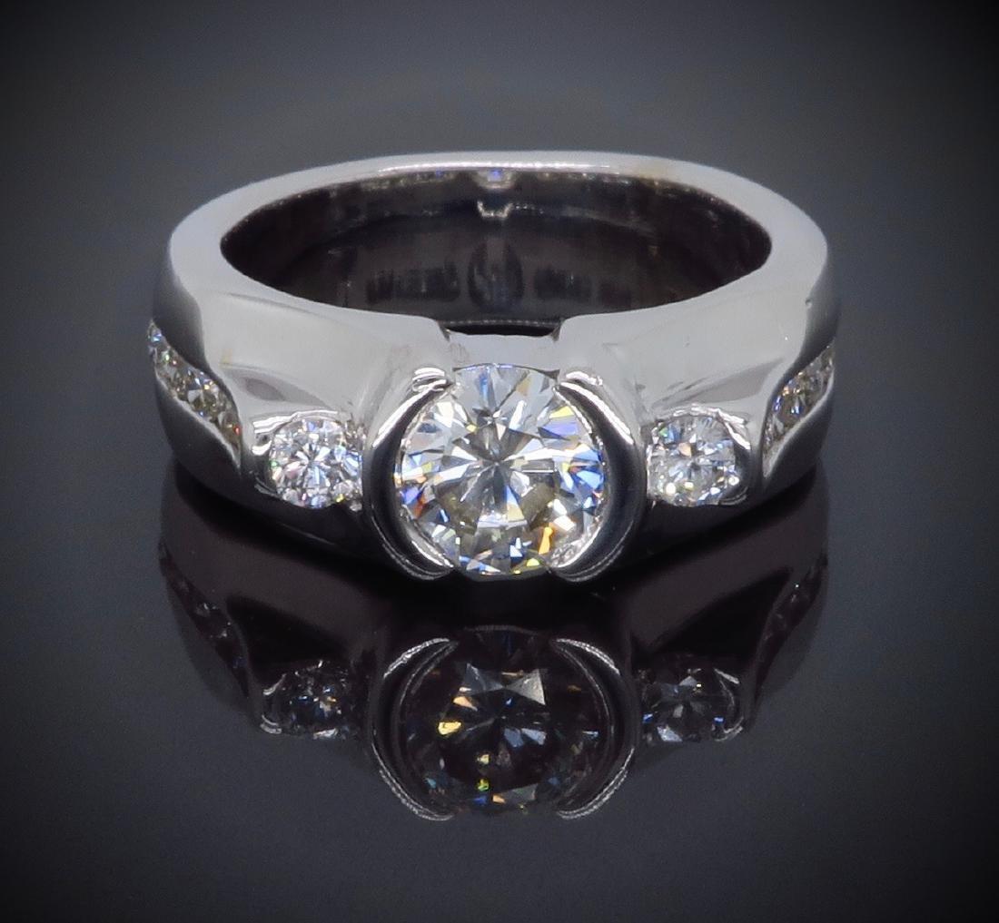 14KT White Gold 1.47ctw Diamond Ring - 2