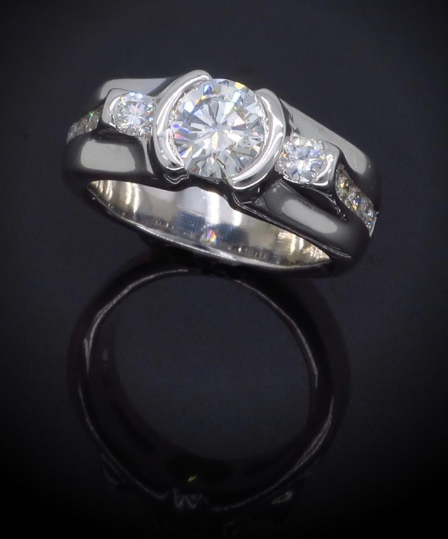 14KT White Gold 1.47ctw Diamond Ring - 3