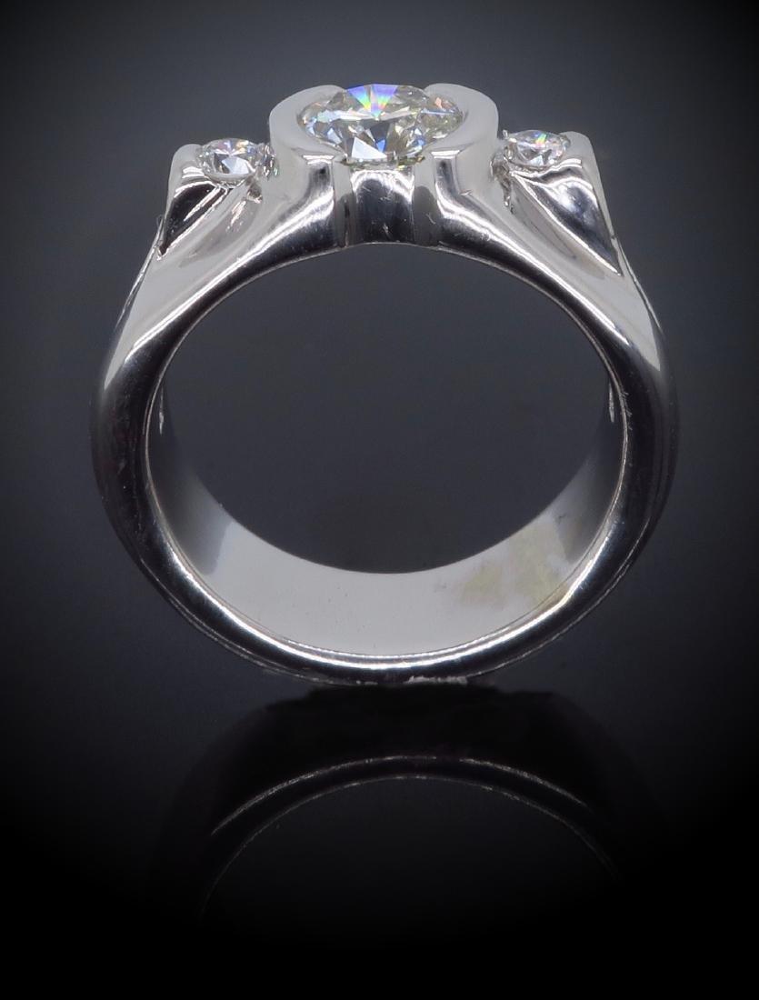14KT White Gold 1.47ctw Diamond Ring - 5