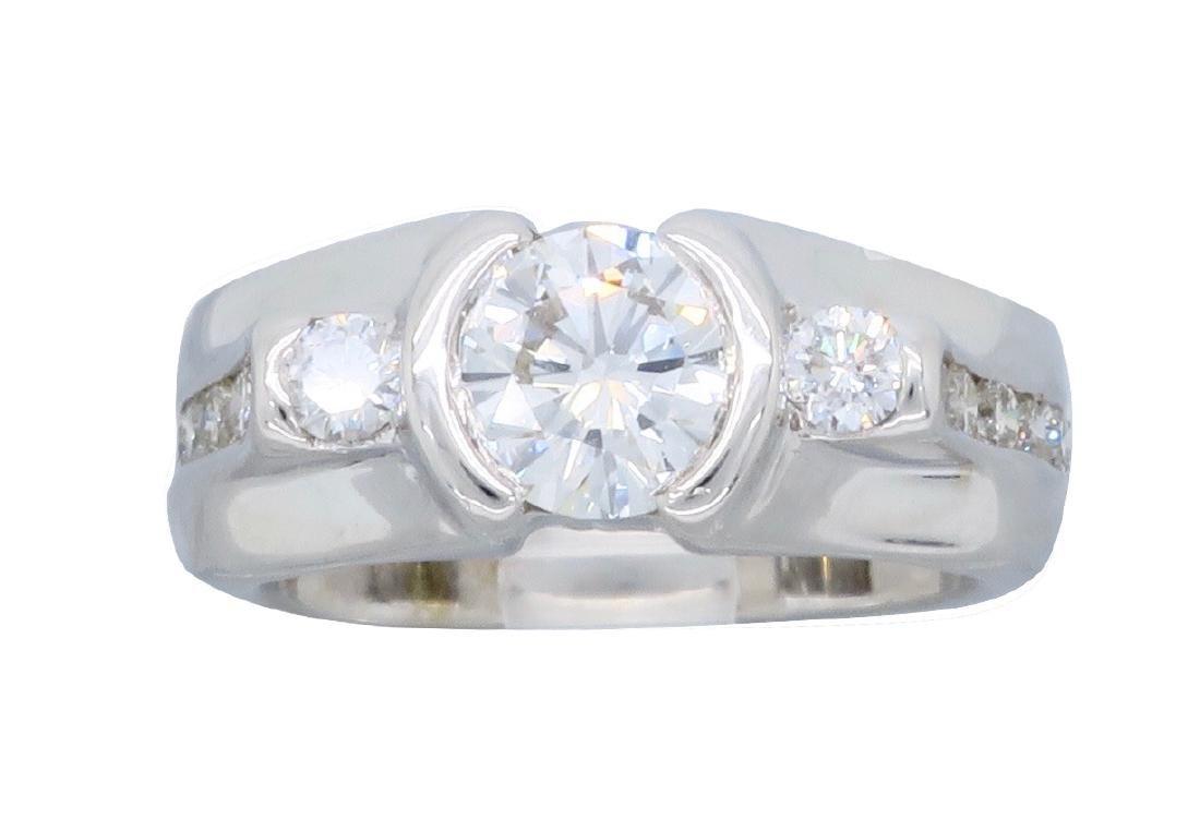 14KT White Gold 1.47ctw Diamond Ring - 6