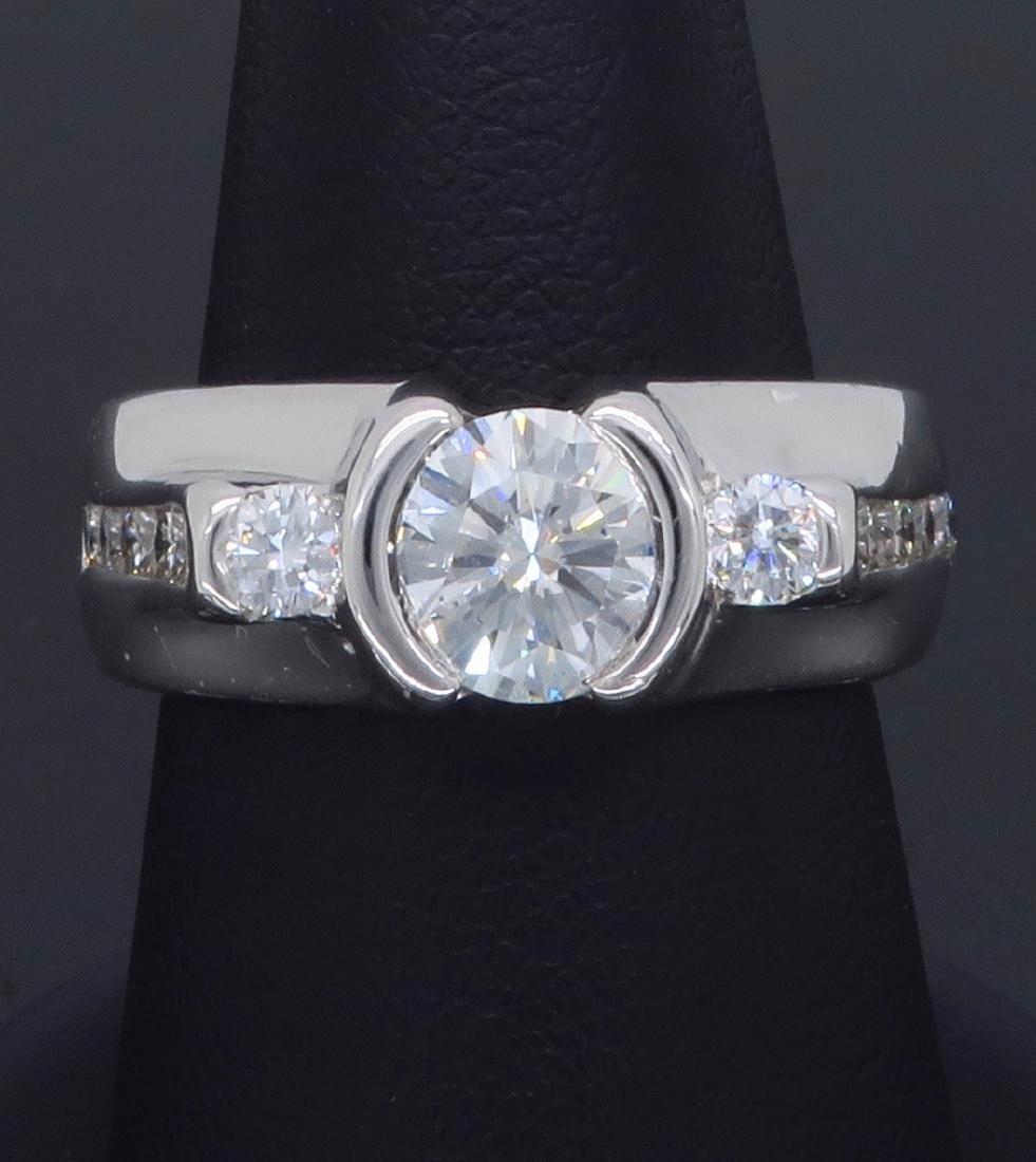14KT White Gold 1.47ctw Diamond Ring - 7