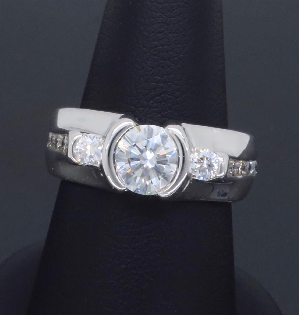14KT White Gold 1.47ctw Diamond Ring - 8