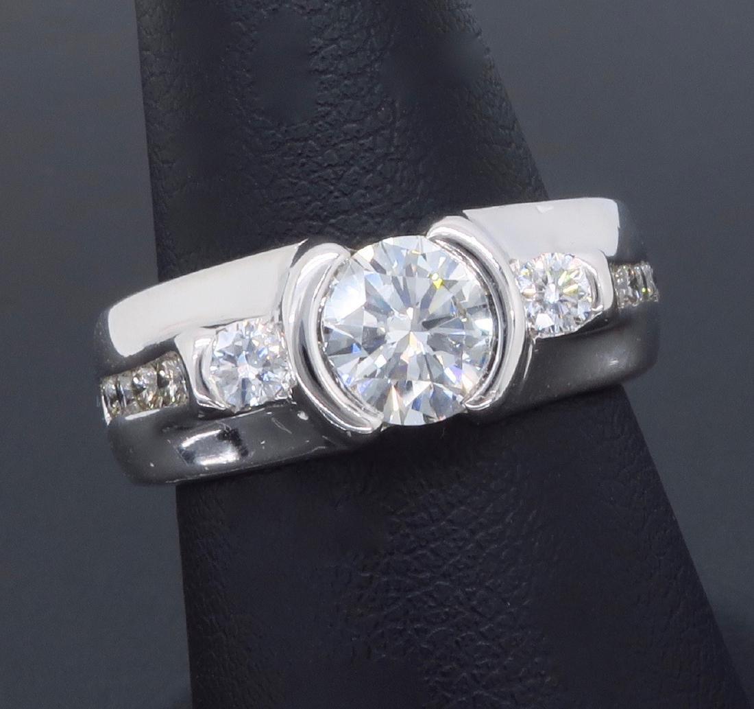14KT White Gold 1.47ctw Diamond Ring - 9